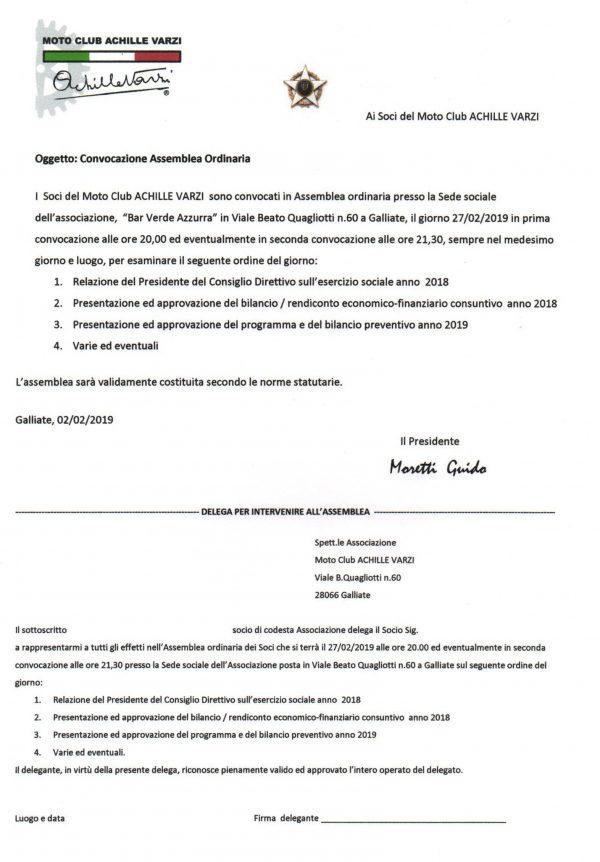 AVVISO DI CONVOCAZIONE DELL'ASSEMBLEAORDINARIA DEI SOCI