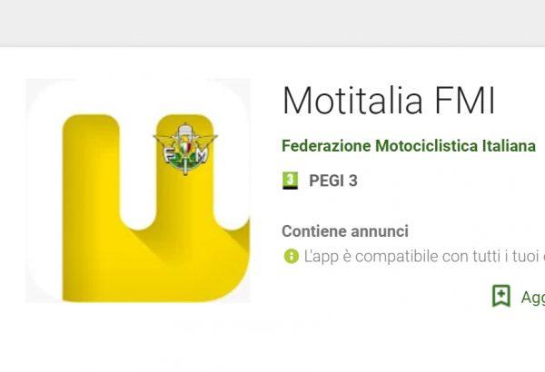 Per TUTTI i tesserati, nuova App di Motitalia!